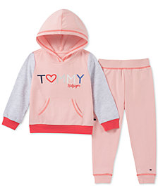 Tommy Hilfiger Little Girls 2-Pc. Hooded Sweatshirt and Joggers Set