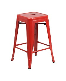 """Offex 24"""" Backless Metal Counter Height Stool"""