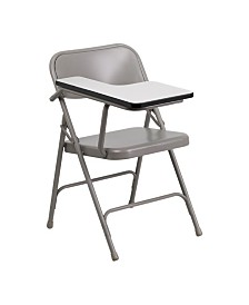 Clickhere2shop Premium Steel Folding Chair with Right Handed Tablet Arm