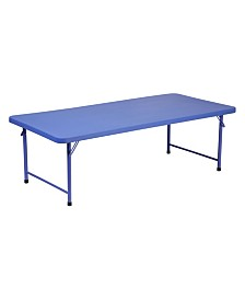 Offex Kid's Plastic Folding Table 30''W x 60''L x 19''H