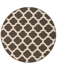 "Surya Alfresco ALF-9584 Black 7'3"" Round Area Rug"