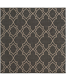 "Surya Alfresco ALF-9590 Black 8'9"" Square Area Rug"