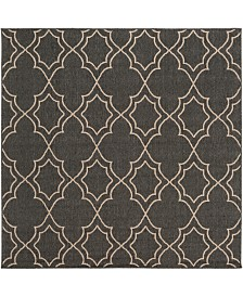 "Surya Alfresco ALF-9590 Black 8'9"" Square Area Rug, Indoor/Outdoor"