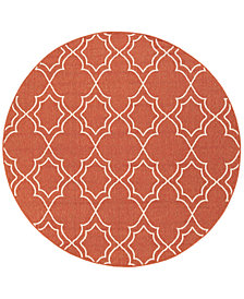 "Surya Alfresco ALF-9591 Rust 5'3"" Round Area Rug"