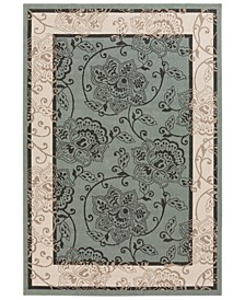 Alfresco ALF-9594 Sage 6' x 9' Area Rug, Indoor/Outdoor