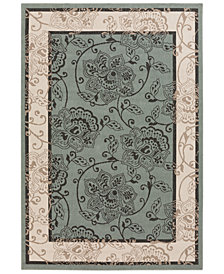 "Surya Alfresco ALF-9594 Sage 2'3"" x 7'9"" Runner Area Rug, Indoor/Outdoor"