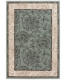 Surya Alfresco ALF-9594 Sage 6' x 9' Area Rug, Indoor/Outdoor
