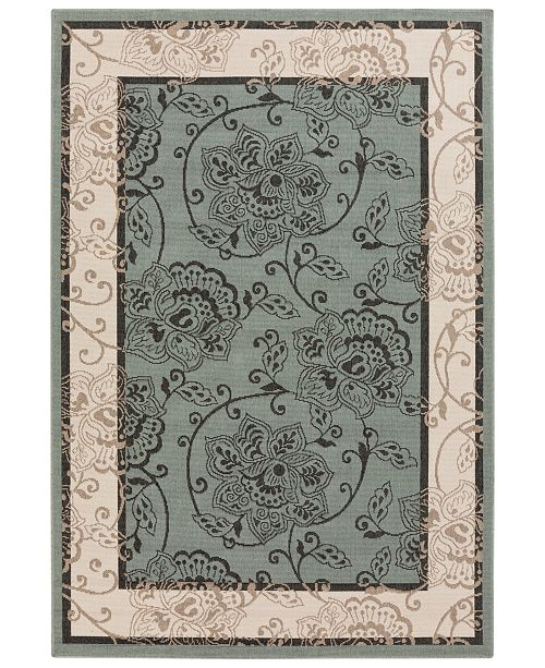 "Surya Alfresco ALF-9594 Sage 8'9"" x 12'9"" Area Rug, Indoor/Outdoor"