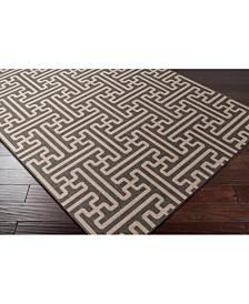 Surya Alfresco ALF-9604 Black 6' x 9' Area Rug, Indoor/Outdoor