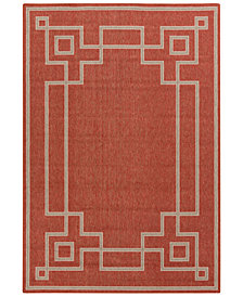 "Surya Alfresco ALF-9631 Rust 2'3"" x 4'6"" Area Rug"