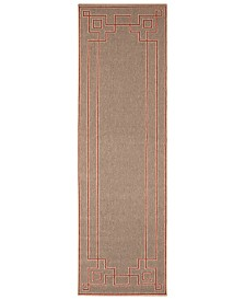 "Surya Alfresco ALF-9633 Rust 2'3"" x 11'9"" Runner Area Rug, Indoor/Outdoor"