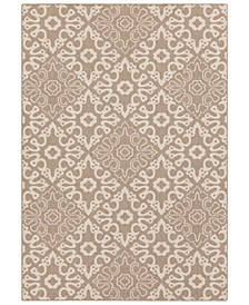 Alfresco ALF-9635 Camel 6' x 9' Area Rug, Indoor/Outdoor
