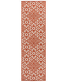 "Surya Alfresco ALF-9636 Rust 2'3"" x 11'9"" Runner Area Rug"