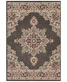 Alfresco ALF-9671 Black 6' x 9' Area Rug, Indoor/Outdoor