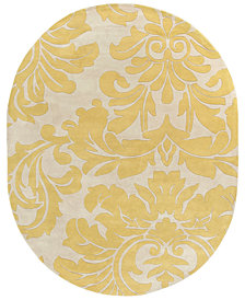Surya Athena ATH-5075 Wheat 8' x 10' Oval Area Rug