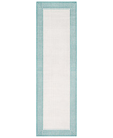 "Surya Alfresco ALF-9680 Teal 2'3"" x 11'9"" Runner Area Rug"