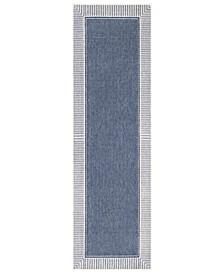 """Alfresco ALF-9682 Charcoal 2'3"""" x 7'9"""" Runner Area Rug, Indoor/Outdoor"""