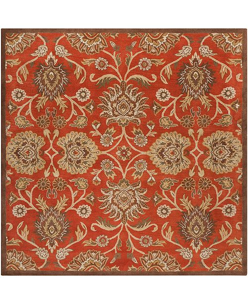 "Surya Caesar CAE-1062 Burnt Orange 9'9"" Square Area Rug"