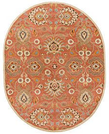 Surya Caesar CAE-1107 Burnt Orange 8' x 10' Oval Area Rug