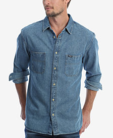 Wrangler Men's Long Sleeve Denim Utility Shirt