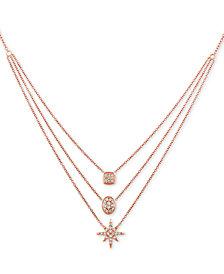 "Le Vian® Nude™ Diamond Triple Layer 24"" Pendant Necklace (7/8 ct. t.w.) in 14k Rose Gold"