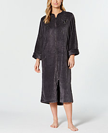 Miss Elaine Fleece Long Zip Robe
