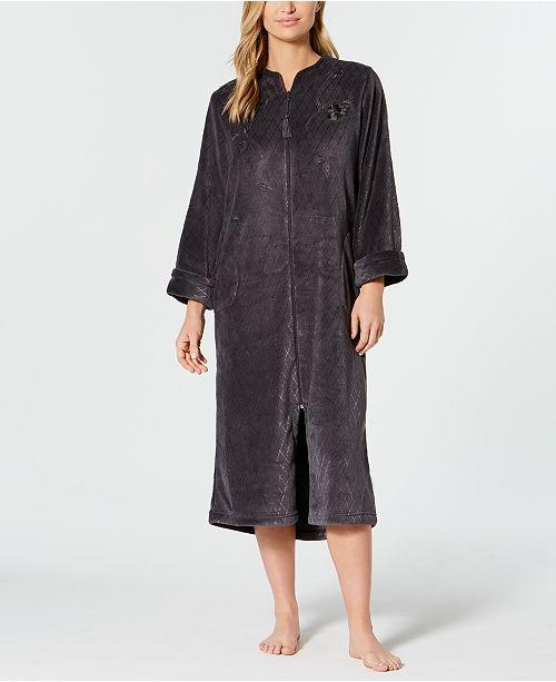 1404178f3c ... Miss Elaine Fleece Long Zip Robe ...