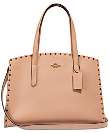 COACH Crystal Border Rivets Charlie Carryall