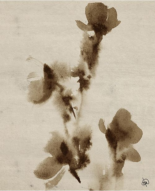 """Creative Gallery Ink Flowers Painting 20"""" X 24"""" Canvas Wall Art Print"""