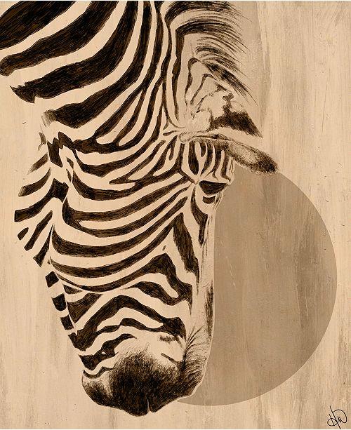 "Creative Gallery Moon Zebra 16"" X 20"" Canvas Wall Art Print"