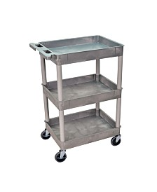 Clickhere2shop Stc111 Heavy Duty Utility Tub Cart with 3 Shelves
