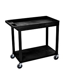 One Tub - One Flat Shelf Utility Cart