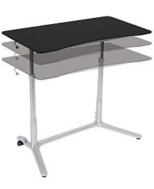 Offex Sierra Adjustable Height Desk - White/Cherry