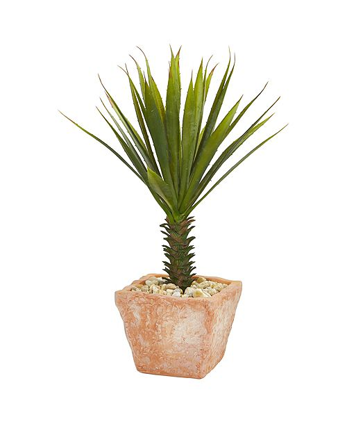 Nearly Natural Spiky Agave Artificial Plant in Terracotta Planter