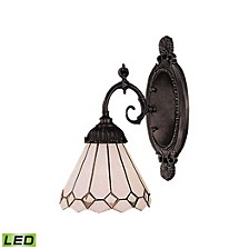 Mix-N-Match 1-Light Sconce in Tiffany Bronze - LED Offering Up To 800 Lumens (60 Watt Equivalent)