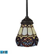 Mix-N-Match 1-Light Pendant in Tiffany Bronze - LED Offering Up To 800 Lumens (60 Watt Equivalent)