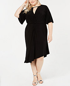Love Squared Plus Size Twist-Front Dress