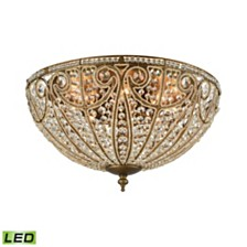 Elizabethan 8 Light Flush in Dark Bronze