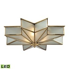 Decostar Collection 3 light flushmount in Brushed Brass