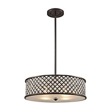 Genevieve 4 Light Chandelier in Oil Rubbed Bronze