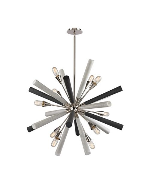 ELK Lighting Solara 10 Light Chandelier in Polished Nickel