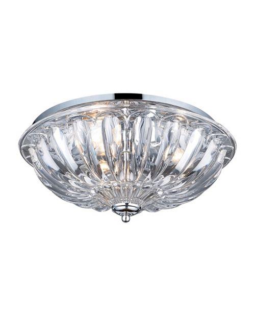 ELK Lighting Crystal 3-Light Flush Mount in Polished Chrome