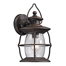 Village Lantern Collection 1 light outdoor sconce in Weathered Charcoal