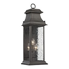 Forged Provincial Collection 3 light outdoor sconce in Charcoal