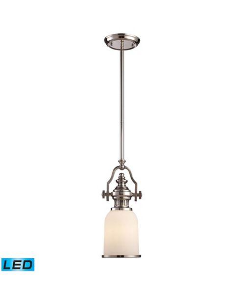 ELK Lighting Chadwick 1-Light Pendant in Polished Nickel - LED Offering Up To 800 Lumens (60 Watt Equivalent)