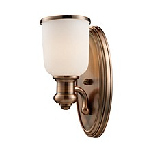 Brooksdale 1-Light Sconce in Antique Copper