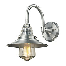 1 light outdoor sconce in Brushed Aluminum