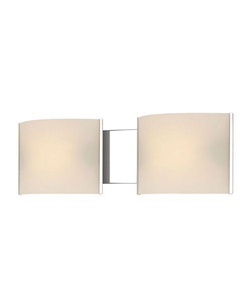 ELK Lighting Pannelli Vanity - 2 Light with Lamps. White Opal Glass / Chrome Finish