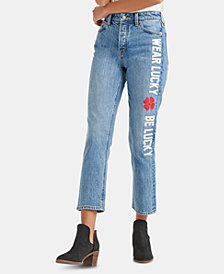 Lucky Brand Bridgette Message-Appliqué Cropped Jeans