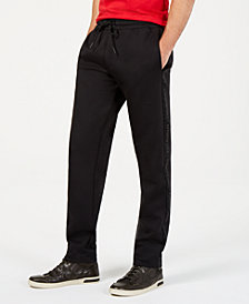 Kenneth Cole New York Men's Stretch Logo-Tape Drawstring Pants